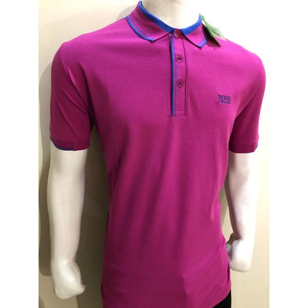 HB Premium Tipping Polo Shirt Pink