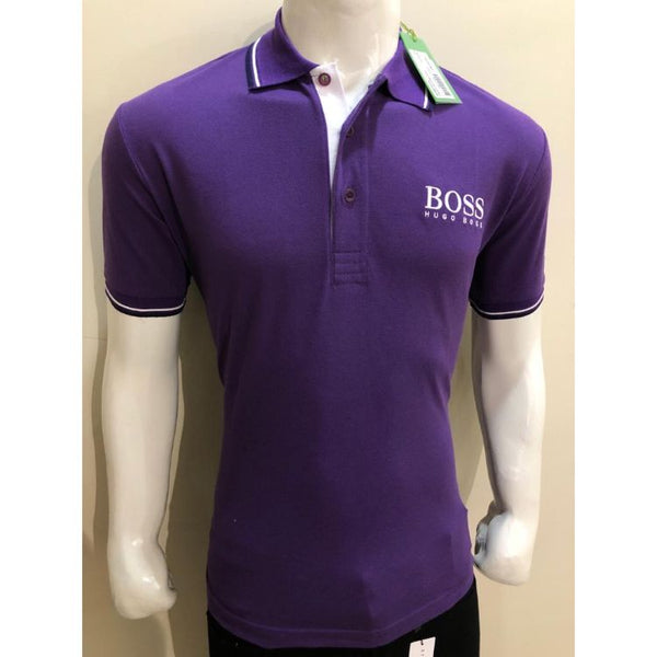 HB Premium Tipping Polo Shirt Violet