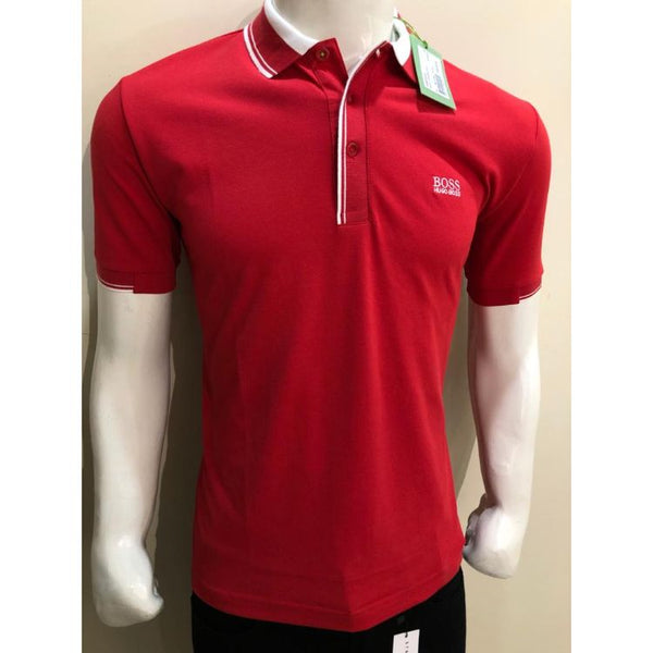 HB Premium Tipping Polo Shirt Red