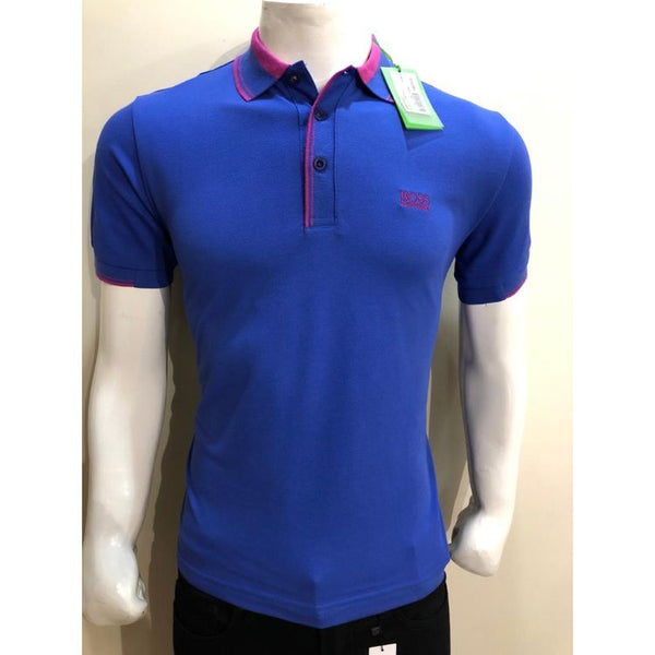 HB Premium Tipping Polo Shirt Blue