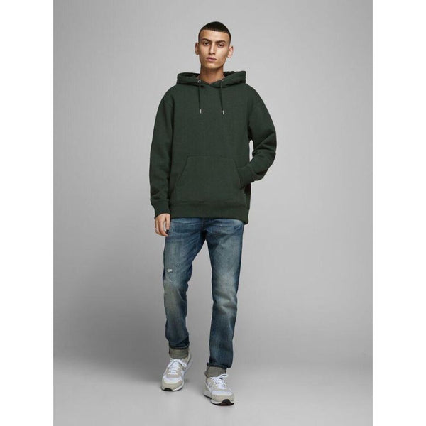 J.A.C.K and J.O.N.E.S Basic Hoodie Dark Green