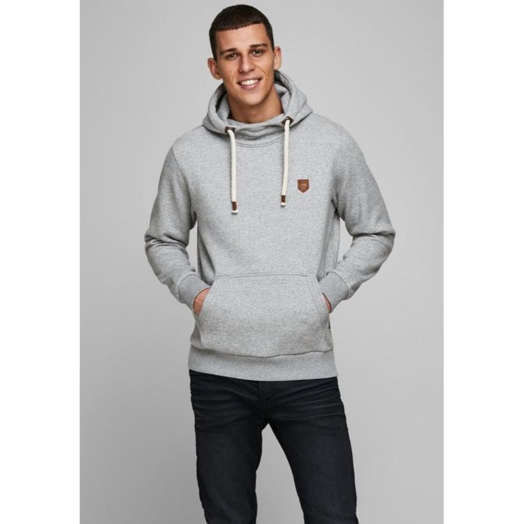 J.A.C.K & J.O.N.E.S Premium High Neck Hoodie Grey