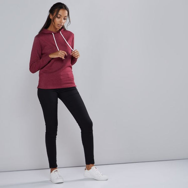 Mxf Long Sleeve Sweatshirt With Hood - Maroon