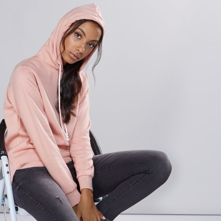 Mxf Long Sleeve Sweatshirt With Hood - Baby Pink