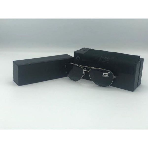 MONTBLNC GODRON SQUARE METAL SUNGLASSES