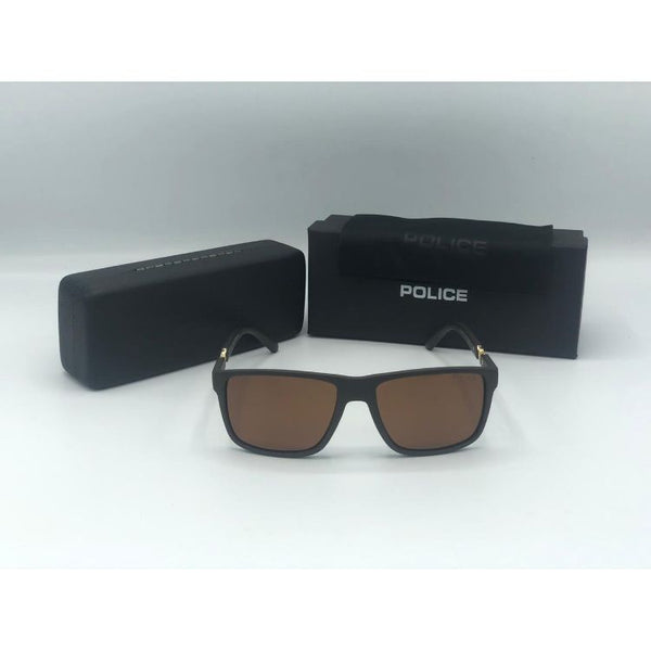 POLICE MATT FRAME BROWN SUNGLASSES