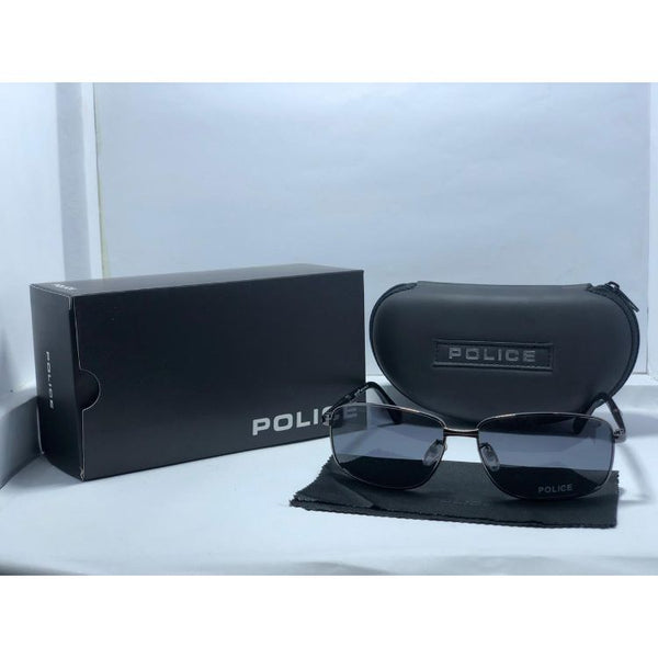 POLICE METAL FRAME DARK GREY SUNGLASSES