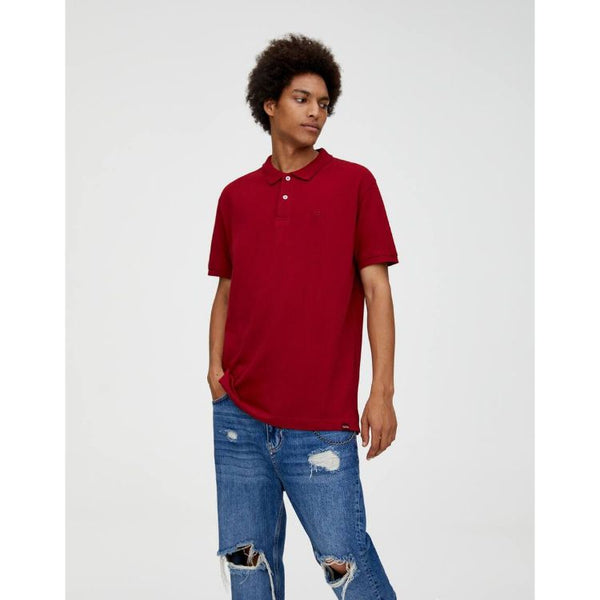 P&B Basic Polo Shirt Maroon