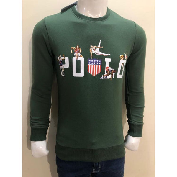 RL DIGITAL PRINTING LYCRA COTTON JERSEY SWEATSHIRT GREEN
