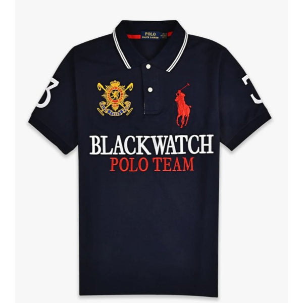 RL Blackwatch Red Pony Polo Black