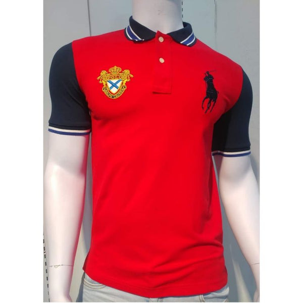 RL Red and Navy Big Pony Polo