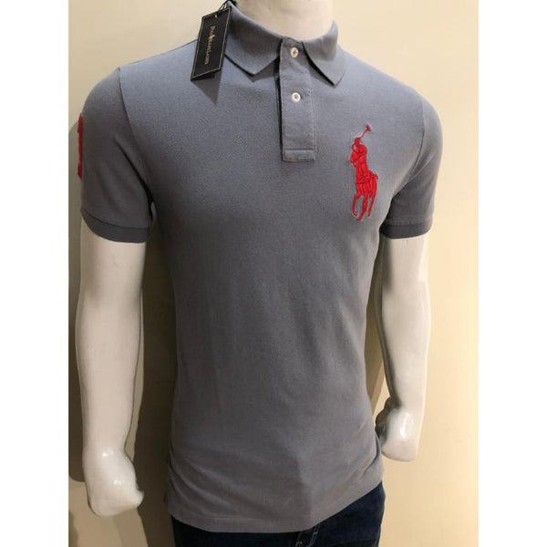 RL Big Red Pony Polo Shirt Grey