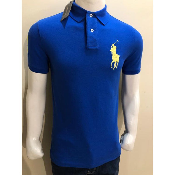 RL Big Yellow Pony Polo Shirt Blue