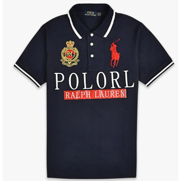 RL Big Pony White Tipping Polo Navy