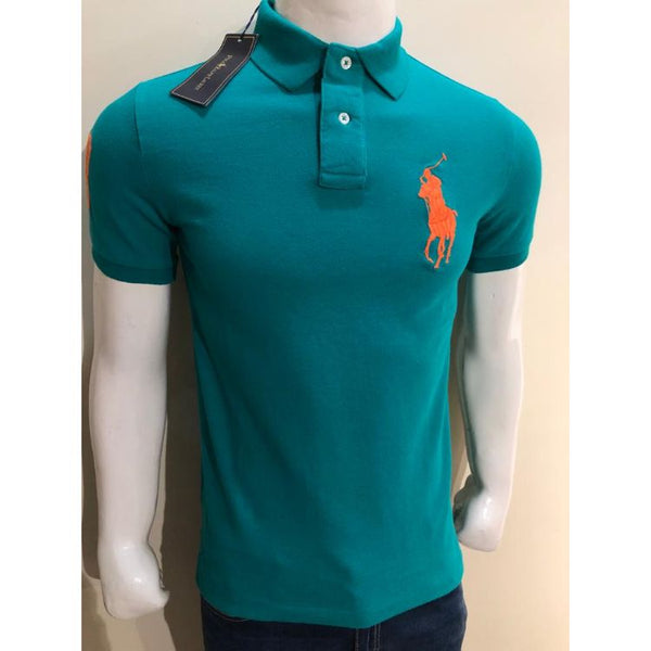RL Big Orange Pony Polo Shirt Ocean Green
