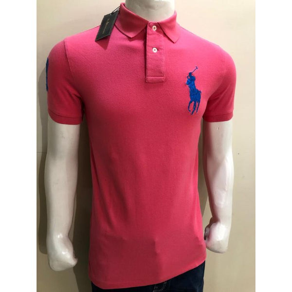 RL Big Blue Pony Polo Shirt Pink