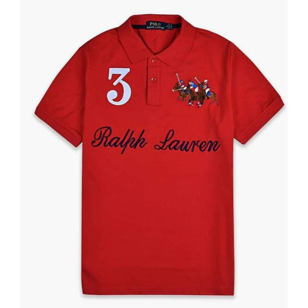 RL Tripple Pony Polo Red