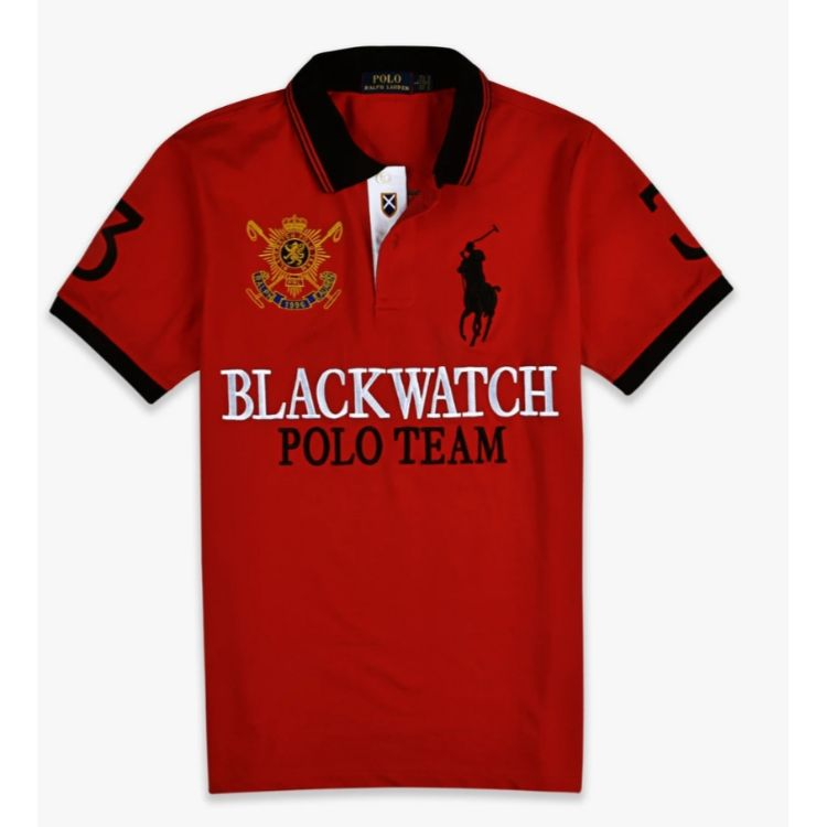 RL Blackwatch Black Pony Polo Red