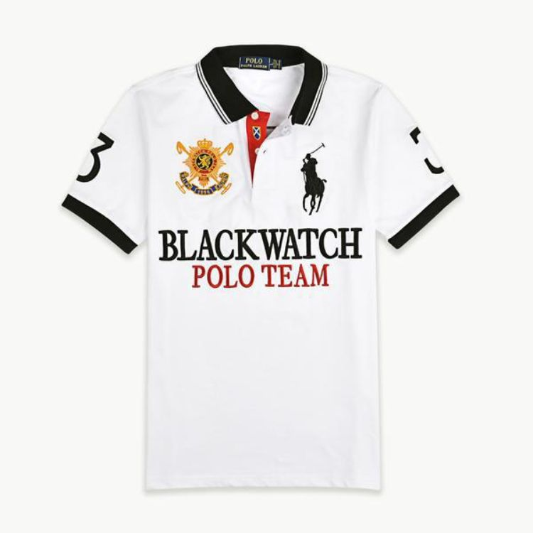 RL Blackwatch Black Pony Polo White