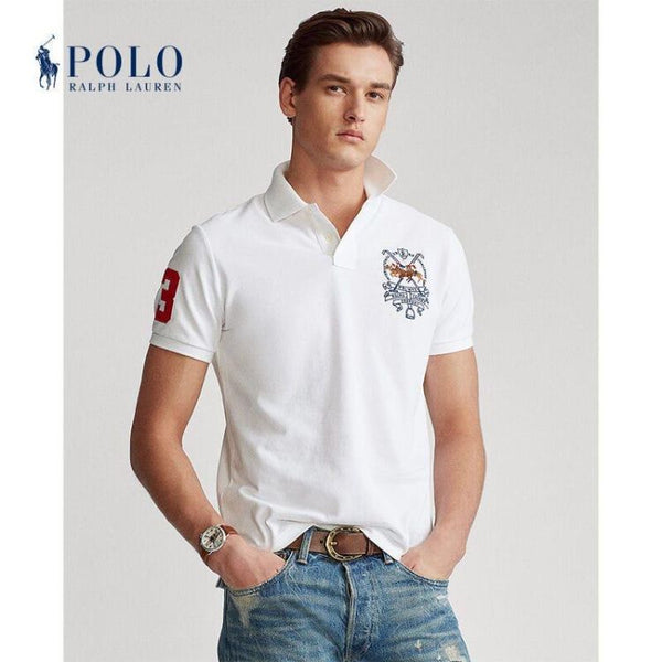 RL Tripple Pony White Polo Shirt