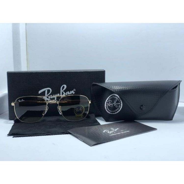 RB PREMIUM GOLD FRAME BROWN SUNGLASSES
