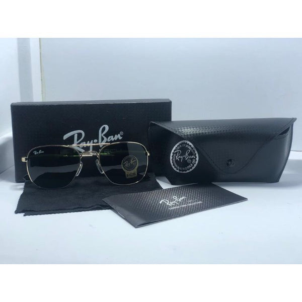 RB PREMIUM GOLD FRAME GREEN SUNGLASSES