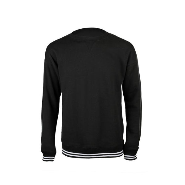 Sf Leather Stripe Sweatshirt Black
