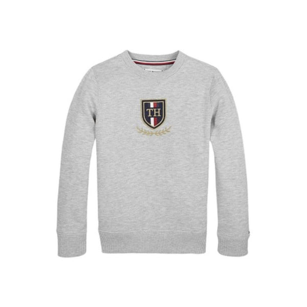 TH Embroidered Sweatshirt Grey