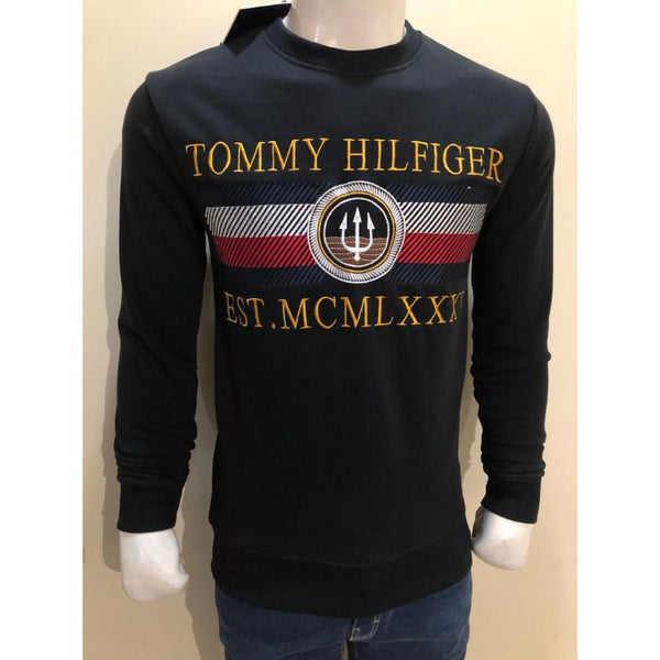 TH Heavy Embroidered Sweatshirt Black