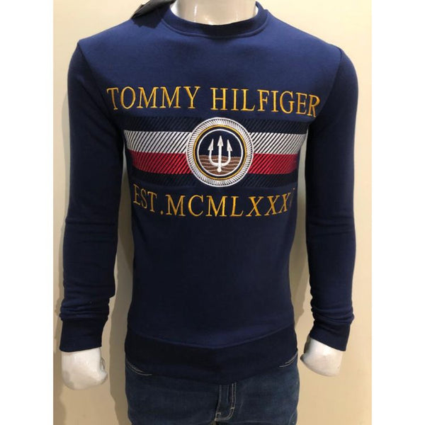TH Heavy Embroidered Sweatshirt Navy