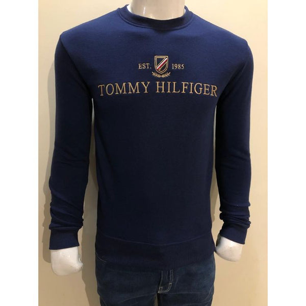 TH Embroidered Classic Sweatshirt Navy