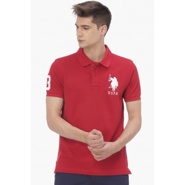 Us Polo Assn Red Polo Shirt