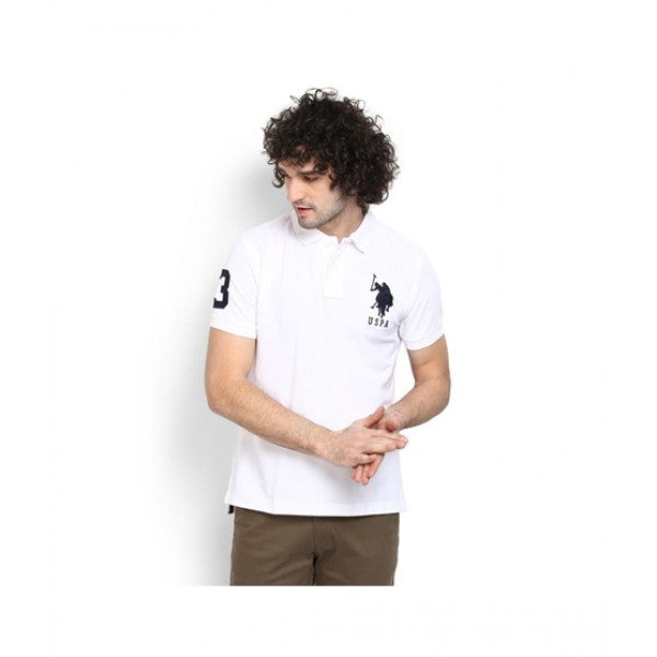Us Polo Assn White Polo Shirt