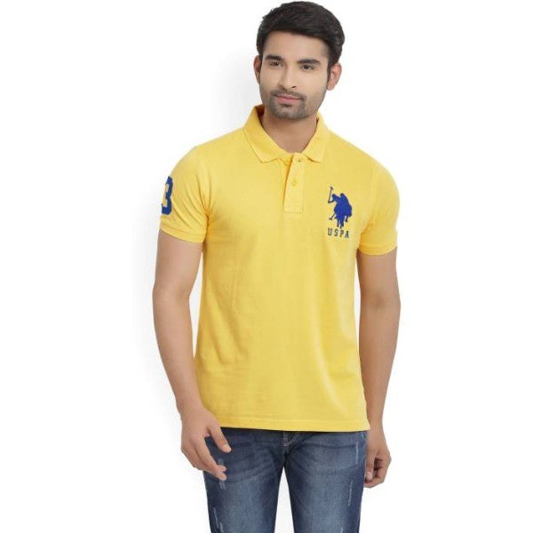 Us Polo Assn Yellow Polo Shirt