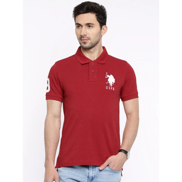 U.S. Polo Assn. Men's Red Pique Polo Shirt