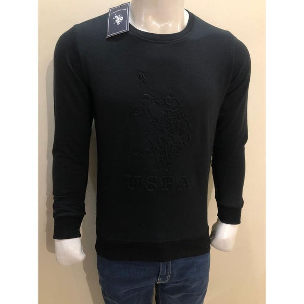 U.S P.O.L.O Embroidered Sweatshirt Black