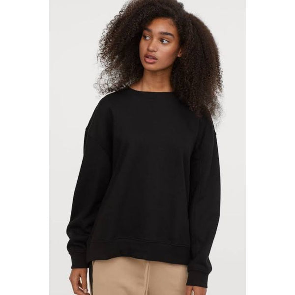 HM Long Sleeves Black Sweatshirt