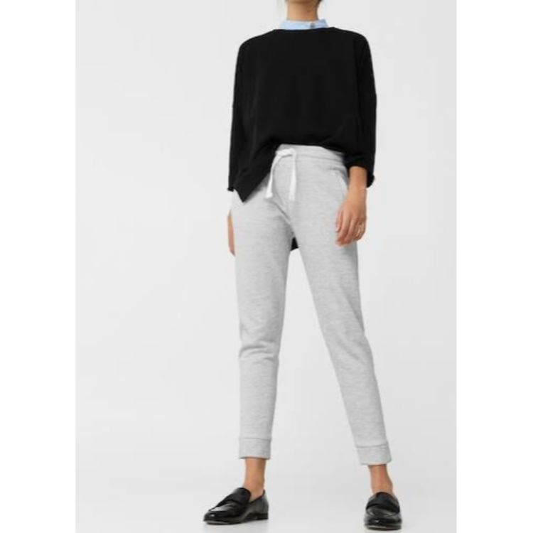 Mngo Plain Trouser Grey