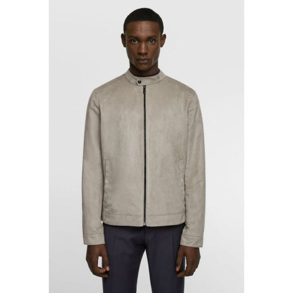 ZR Mid-Grey Faux Suede Jacket
