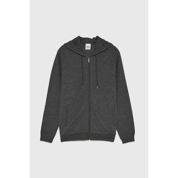 ZR Zip Up Hoodie Charcoal
