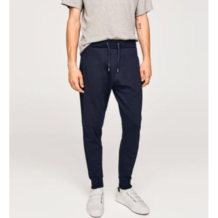 ZR Plain Jogger Pants Navy Blue