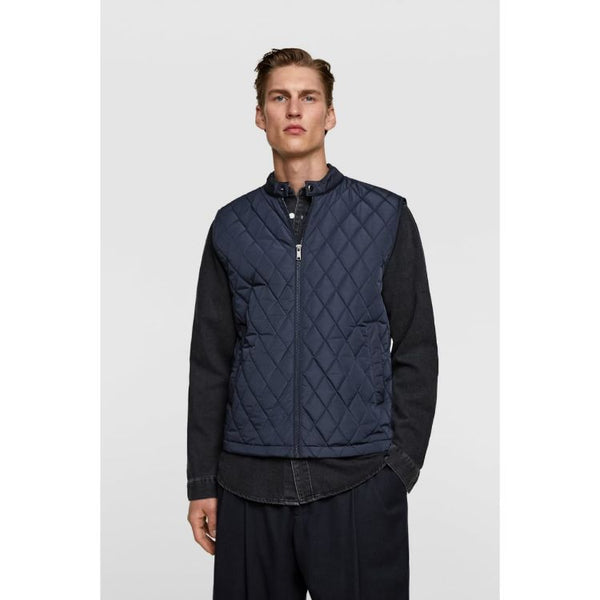 ZR Leather Ban Jacket Navy