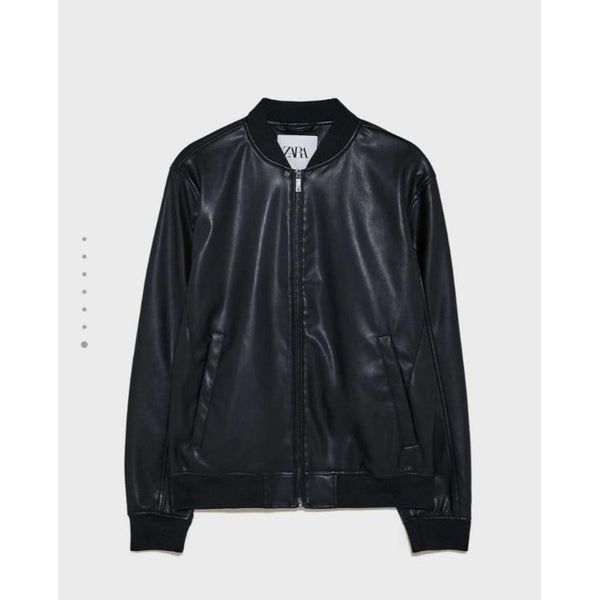ZR Black Faux Leather Jacket