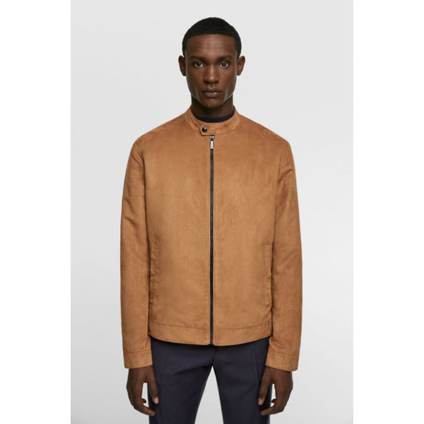 ZR Camel Brown Faux Suede Jacket
