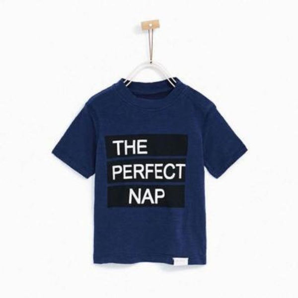 Zr kids navy the perfect nap t-shirt
