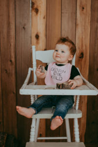 Born to be Wild Bib | Baby Brick | Lace Brick Design