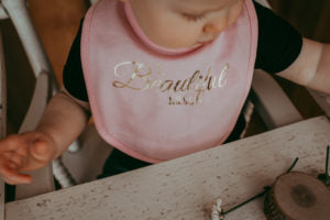 A Beautiful Mess Bib | Baby Brick | Lace Brick Design