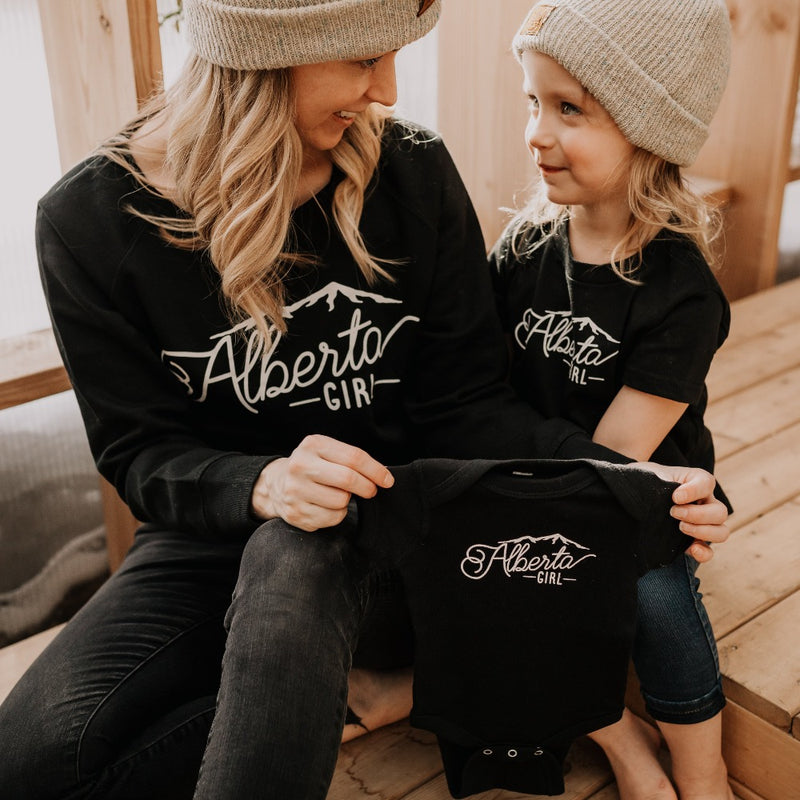 Alberta Girl Adult Crew + Toddler T-Shirt + Infant Bodysuit