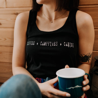 Coffee + Campfires + Cabins Tank Top