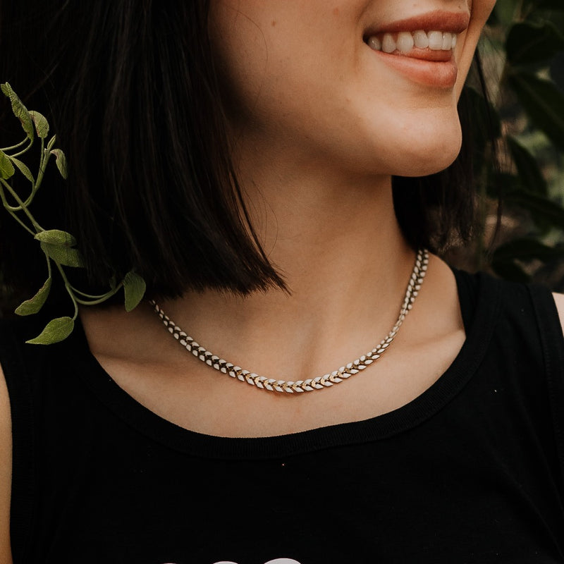 LIMITED RELEASE - White Fishtail Necklace